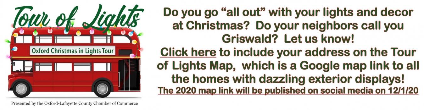 Night of lights slider call for addresses